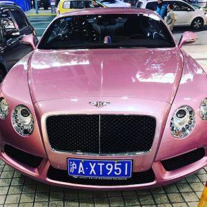 A pink Bentley.