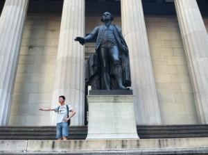 tourist on Wall Street