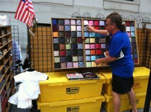 street vendor selling power ties