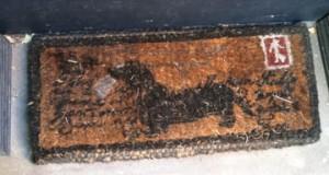 floormat iwth dachshund