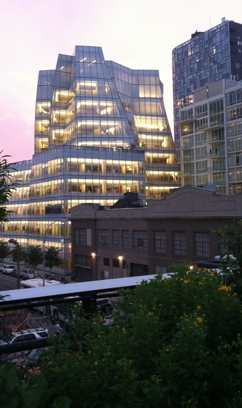 a building view from the High Line